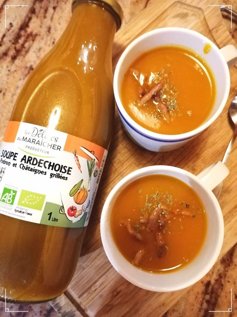 soupe ardéchoise Les Délices du Maraicher Soupes Bio AB Agriculture Biologique Transformation