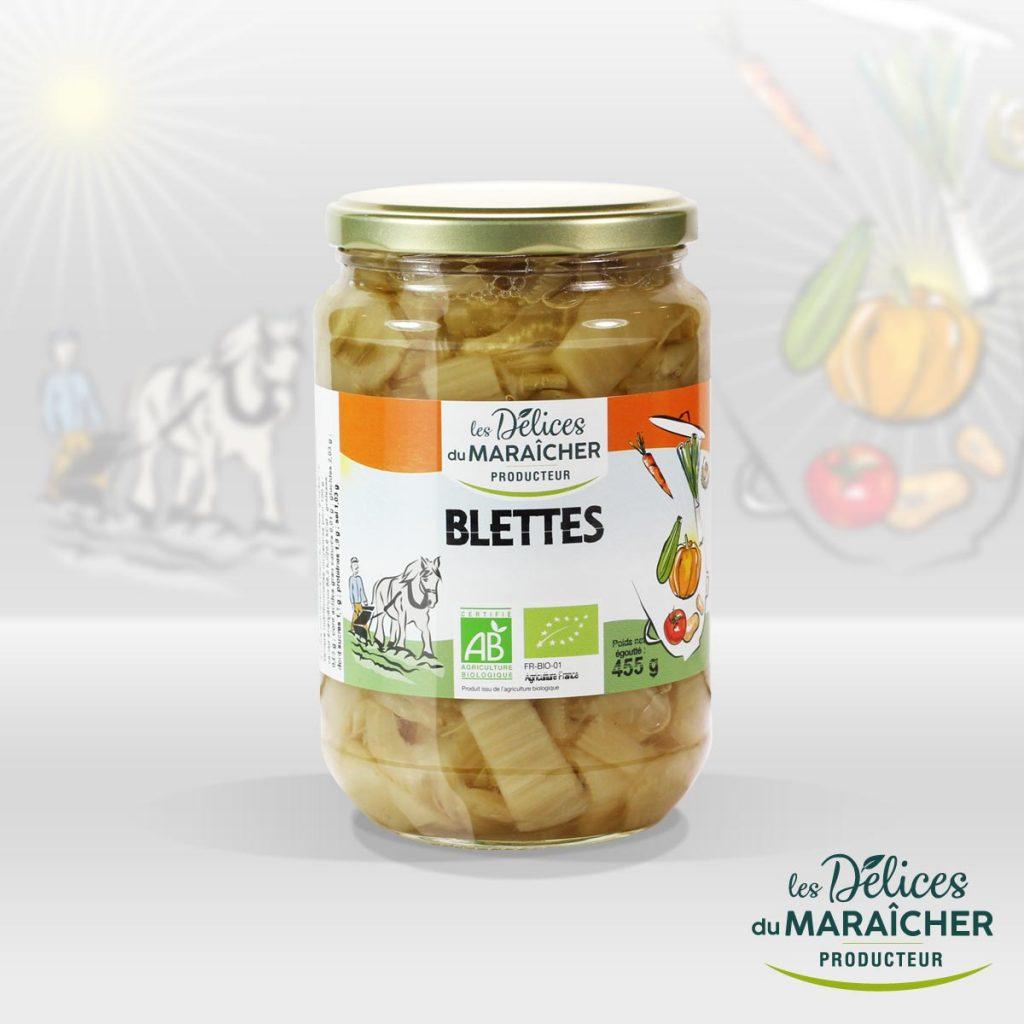 Blettes conserves Soupes Bio Velouté AB Agriculture Biologique Les délices du maraîcher Ardèche