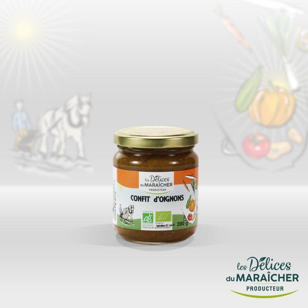 Confit Oignons conserves Soupes Bio Velouté AB Agriculture Biologique Les délices du maraîcher Ardèche