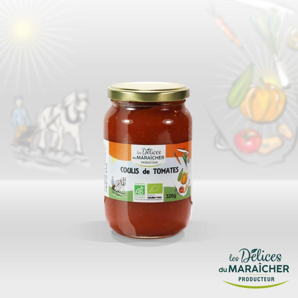 Coulis de Tomates conserves Soupes Bio Velouté AB Agriculture Biologique Les délices du maraîcher Ardèche