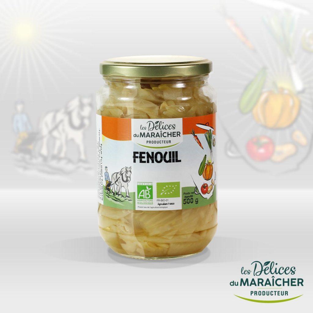 Fenouil conserves Soupes Bio Velouté AB Agriculture Biologique Les délices du maraîcher Ardèche