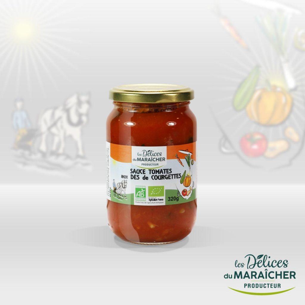 Sauce tomates courgettes conserves Soupes Bio Velouté AB Agriculture Biologique Les délices du maraîcher Ardèche