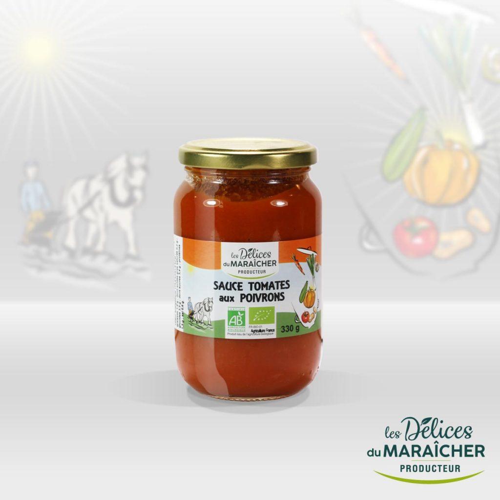 Sauce tomates poivrons conserves Soupes Bio Velouté AB Agriculture Biologique Les délices du maraîcher Ardèche