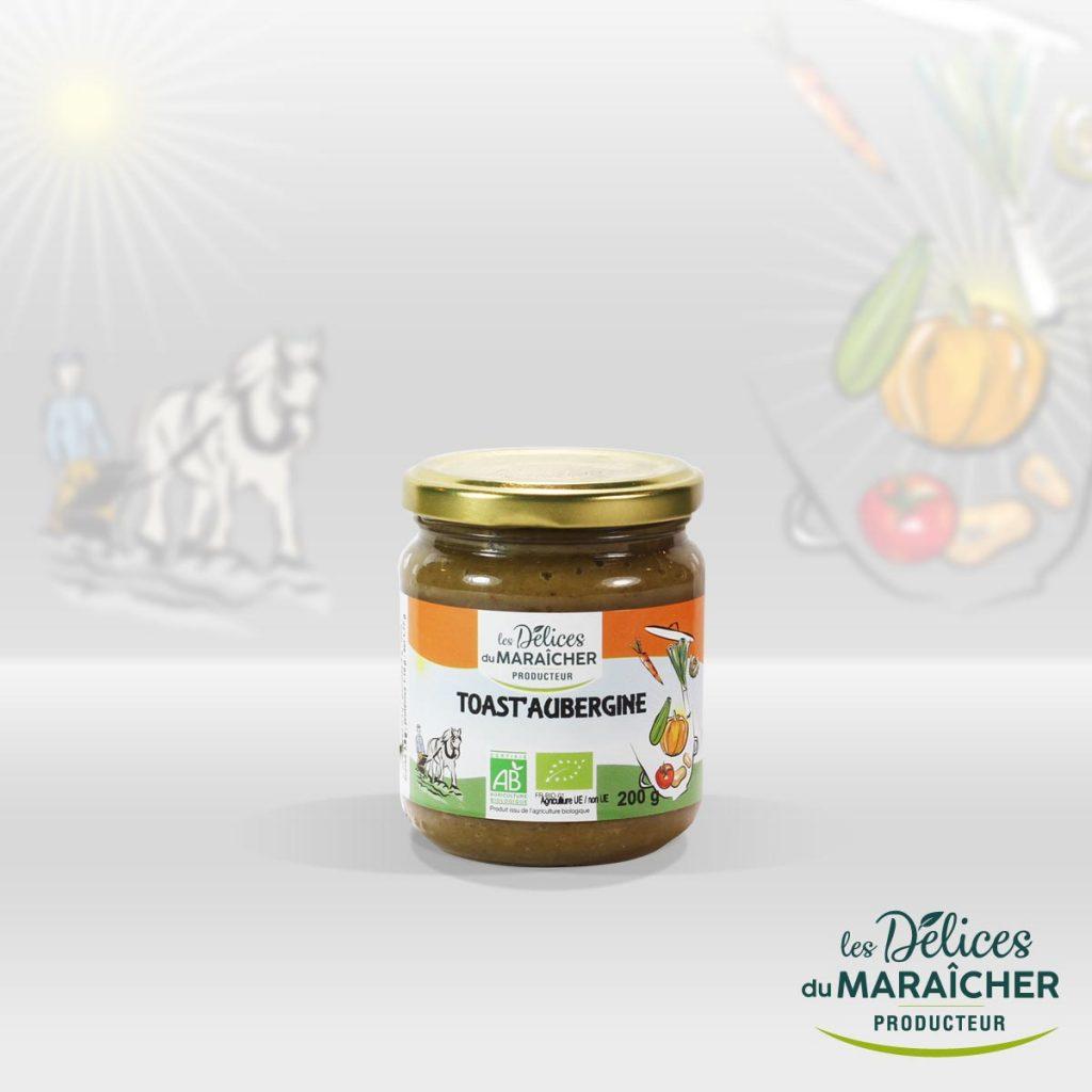 Toast Aubergine conserves Soupes Bio Velouté AB Agriculture Biologique Les délices du maraîcher Ardèche