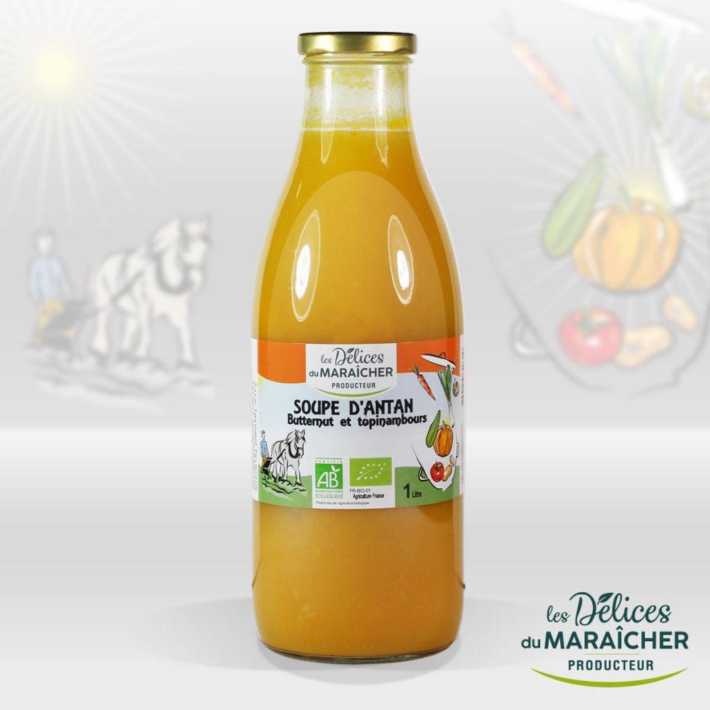 Soupe d'antan Butternut topinambours Soupes Bio Velouté AB Agriculture Biologique Les délices du maraîcher Ardèche