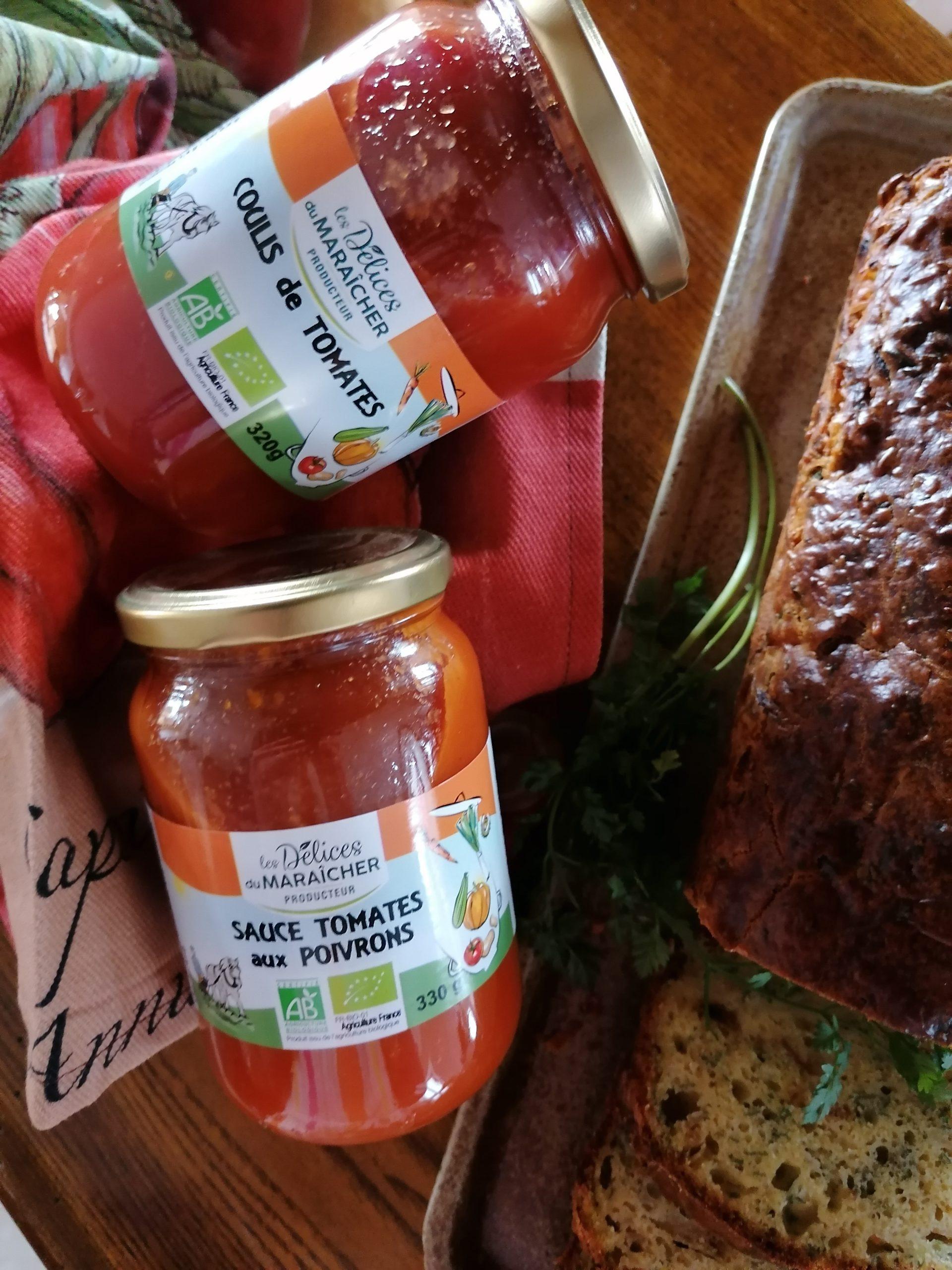 coulis de tomates sauce tomates aux poivrons Les Délices du Maraîcher AB